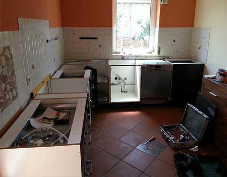 Küche abbauen